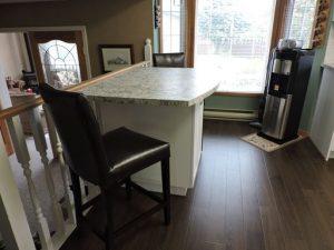 Reumken's kitchen island after renovation