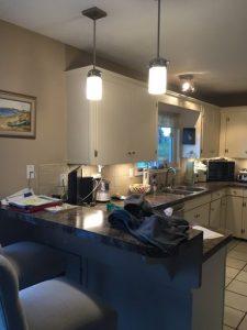 Wilkie kitchen - peninsula renovation before
