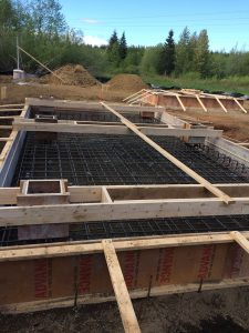 Gas plant - foundation framing by Heikess Contracting