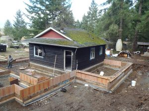 Nanaimo Lakes Road - footings by Heikess Contracting