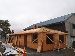 fHoldfast renovation - new addition framed