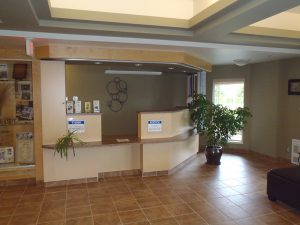 Seniors residence- reception area by Heikess Contracting