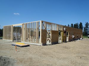 Rugg Road first level framing by Heikess Contracting