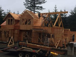 Rugg Road framing in progress by Heikess Contracting