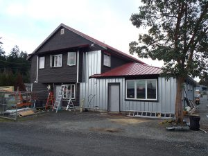 Holdfast renovation - front siding almost completed