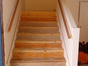 Holdfast renovation - stairwell before