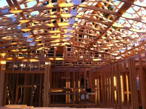 Adshead Road - trusses and framing by Heikess Contracting